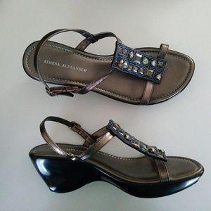 Athena Alexander Strappy Wedge Sandal Sz 9